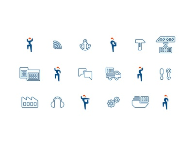 Audio guide icons industrial illustration vector icon