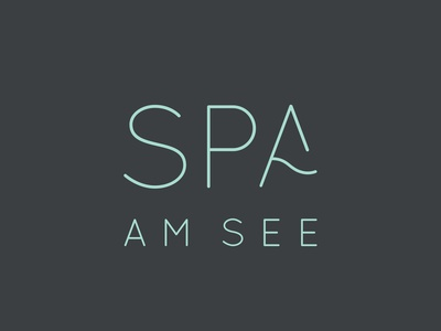 Spa Amsee Logo typography brand spa branding design logo