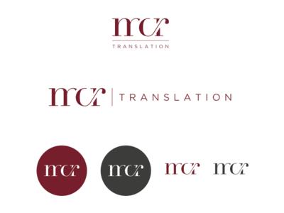 Mcr Logo typography branding brand design logo