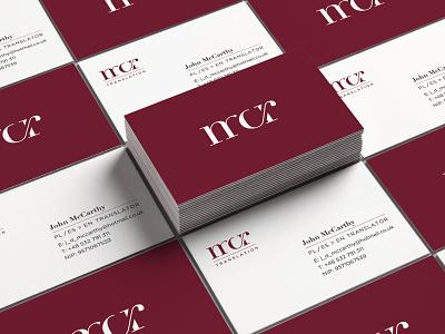 Mcr Business Card business card typography design logo brand branding