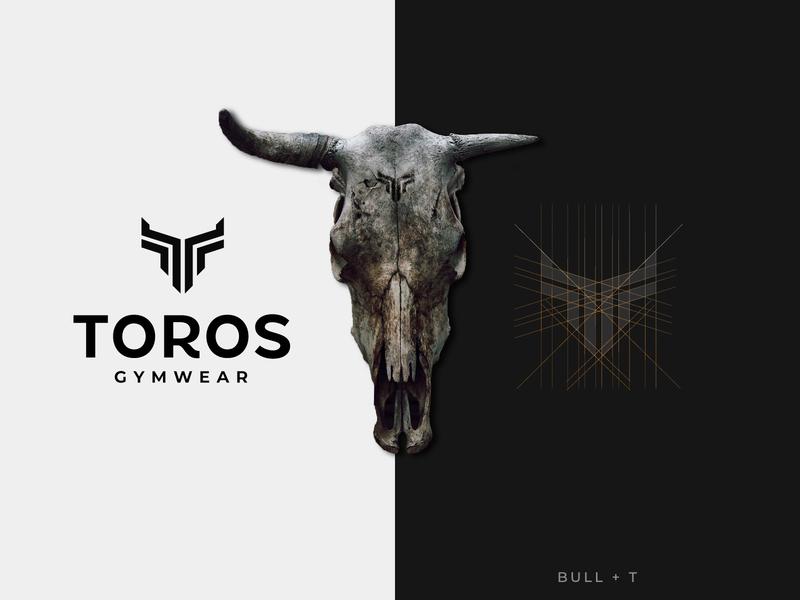 TOROS graphic  design clever toro flat minimal logo design grid smart mark fitness gym logo designer logo design logo design bull branding brand and identity adobe illustrator adobe