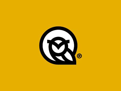 The Wisdom vector illustration minimalist logo owl logo bird logo owl negative space creative icon symbol mark mark monogram logodesign logo design logos brand and identity branding adobe illustrator adobe