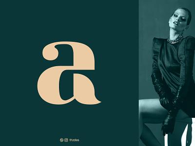 Allove illustraion luxury letter a typography vector clothing fashion icon symbol mark creative wordmark monogram minimalist logotype logo design logo logos brand and identity branding adobe illustrator adobe