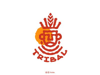 TRIBAL logo concept sketch indian icon symbol mark art creative logotype vector minimalist africa tribe illustration art illustration logo design logos logo brand and identity branding adobe illustrator adobe