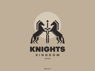 Knights Kingdom sword design typography logotype vecotr knight animal logo horse logo minimalist mark monogram icon vector logodesign logos logo brand identity branding adobe illustrator adobe