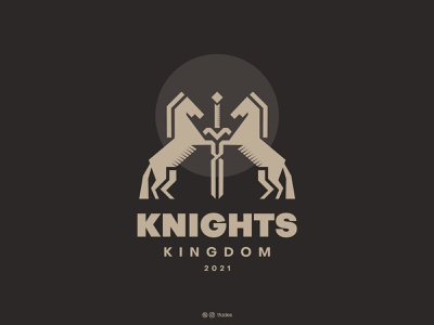 Knights Kingdom sword design typography logotype vecotr knight animal logo horse logo minimalist mark monogram icon vector logodesign logos logo brand identity branding adobe illustrator adobe