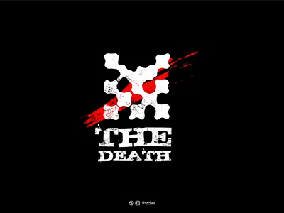 THE DEATH abstract modern icon symbol mark death vector typography monogram design illustration art illustration minimal skull creative logo design logos logo brand identity branding adobe illustrator adobe