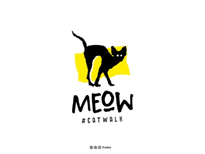 Meow Catwalk design egyptian creative clean icon symbol mark cat logotype illustration typography minimal vector logos identity brand and identity branding brand logo design logo adobe illustrator adobe
