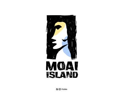 MOAI moai modern icon symbol mark clean creative illustration design minimal minimalist logo vector branding brand identity logotype brand design logodesigner logo design logos logo adobe illustrator adobe
