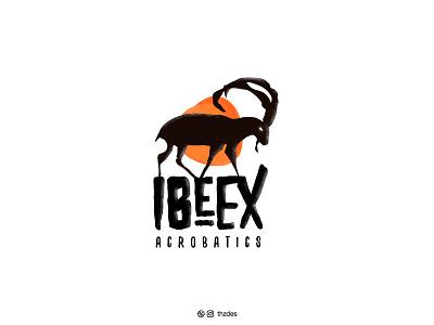 IBEX ACROBATICS smart acrobatics vintage ibex vector icon symbol mark creative logotype minimal illustration art illustration brand and identity branding logo designer logo design logos logo design adobe illustrator adobe