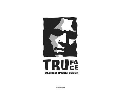 TruFace mascot vector minimal monogram icon clean logo designer face negative space creative illustration logotype design logos brand identity branding logo design logo adobe illustrator adobe