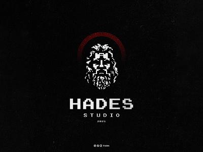 Hades type vector graphic design pixel hades mark clean minimalist creative vintage illustration logo designer logo design logos logo design brand identity branding adobe illustrator adobe