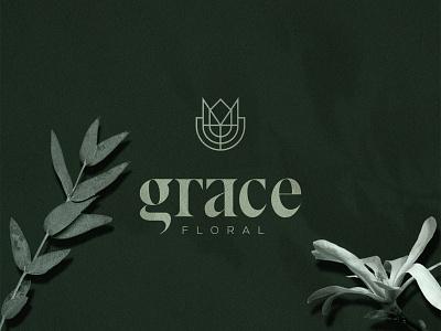 Grace Floral logotype adobe illustration premium icon symbol mark graphic design vector typography creative logo minimal logo adobe illustrator logos brand identity branding flower floral logo luxury logo logo designer logo design logo
