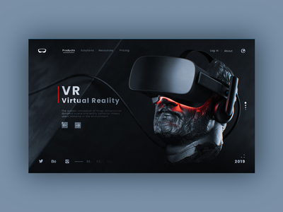 VR - Web design