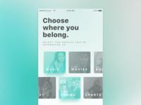 Social App - On boarding experience