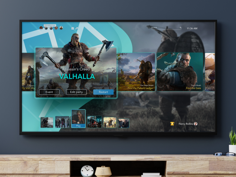 PlayStation 5 UI concept concept sony brand design interface ux ui games online dashboard upcoming leaked user experience user interface product design ui-ux ps 5 playstation 5 playstation5 playstation