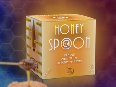 Honey Spoon packaging packagingdesign packagedesign graphicdesign packaging design bee honey packaging