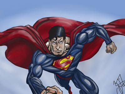 Superman photoshop illustration superhero superman