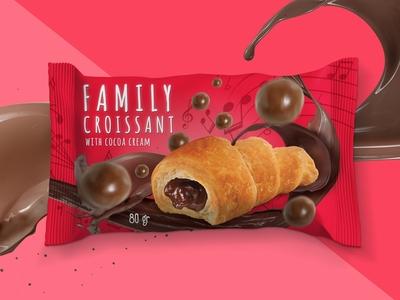 Family Croissant Packaging design