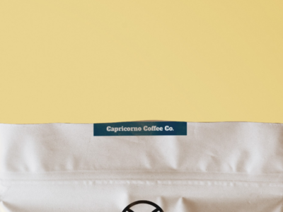 Capricorno Coffee Co. design branding identity logo 2d