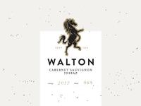 Walton Cabernet Sauvignon Shiraz ~ Label Lockup