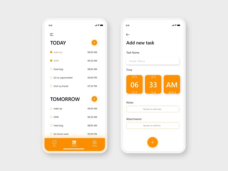 Todo List App adobe xd sketch figma mobile app design ux ui