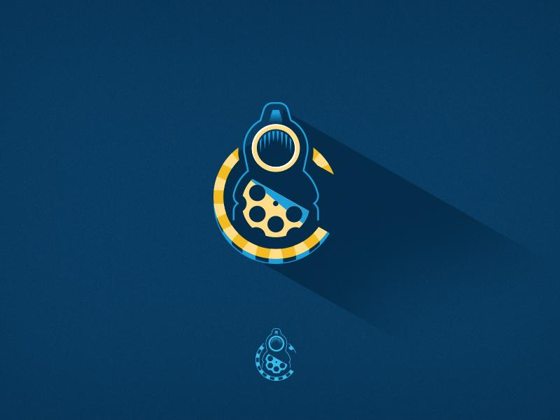 sneakpeek logo gun flat