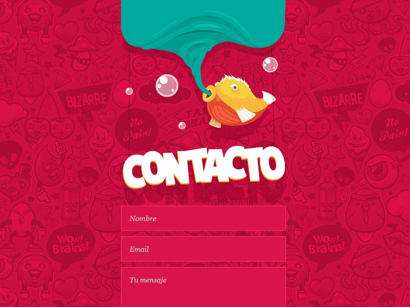 Ndt fish contact form contact illustration flat