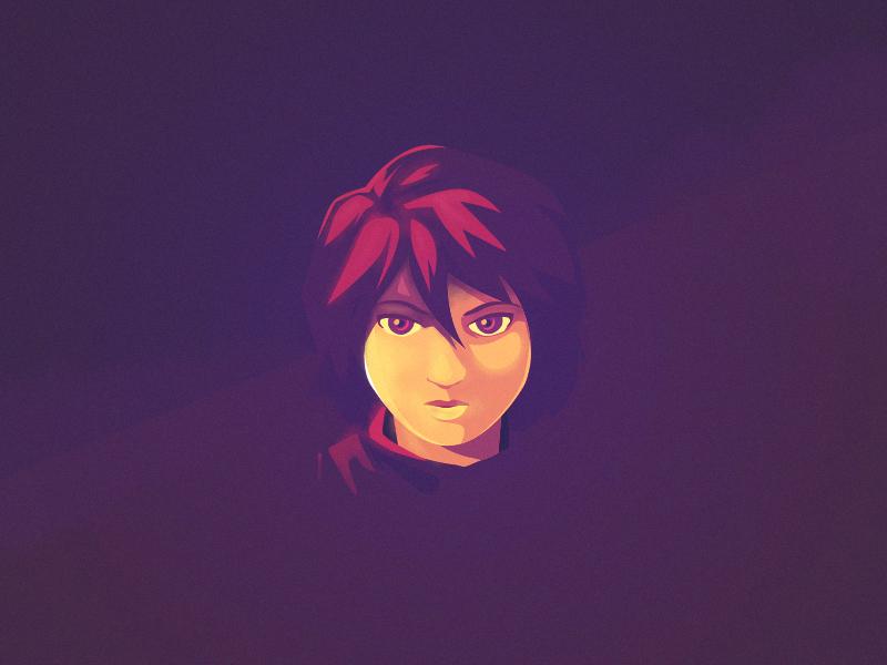 Girl girl anime portrait