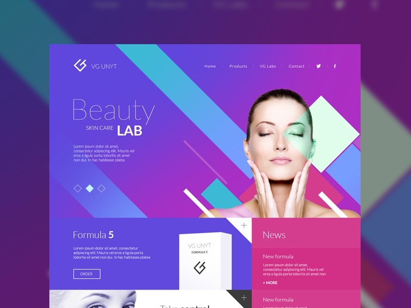 Beauty care health beauty site responsive web