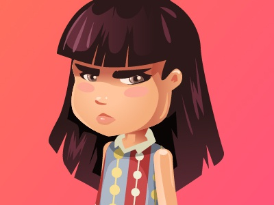 just mad nena niña enojada angry mad girl little girl