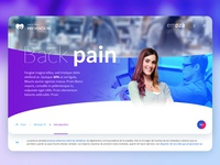 Back pain gradient app branding back backpain app