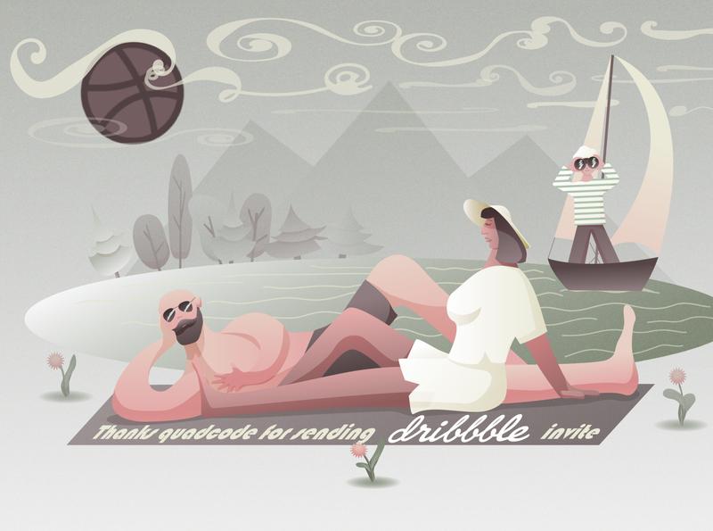 Thanks quadecode)) flat vector illustrator illustration art
