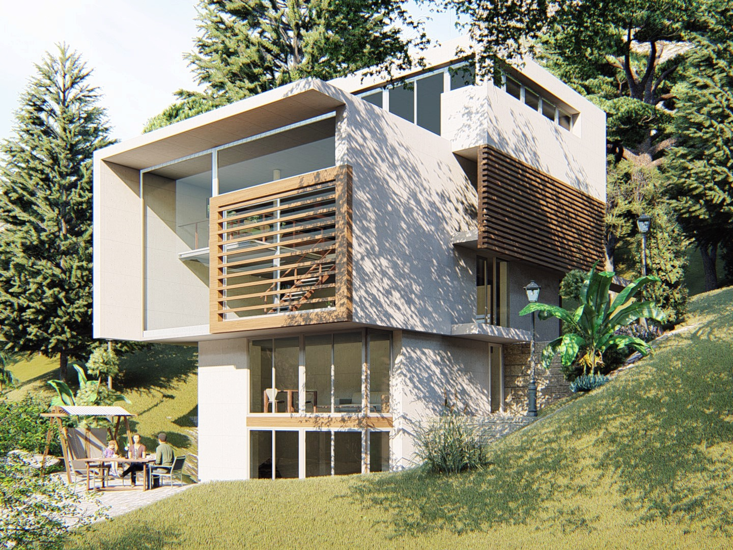 The Lake House renders modeling lumion design autocad 3dsmax