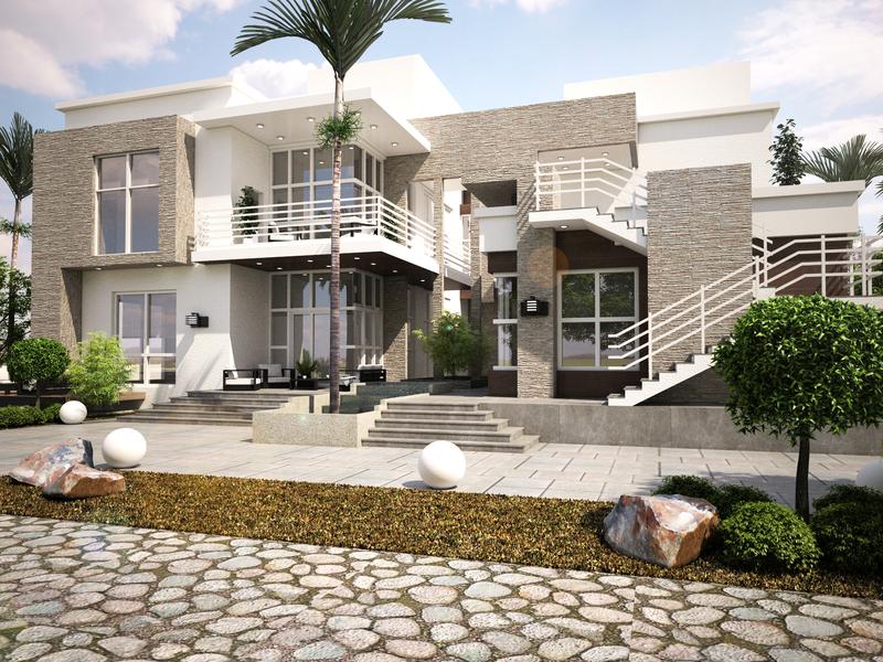 Villa Abu Dhabi walkthrough renders modeling lumion design autocad 3dsmax