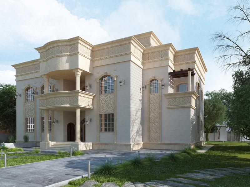 Traditional Villa Concept_ Abu Dhabi UAE walkthrough renders modeling lumion design autocad 3dsmax
