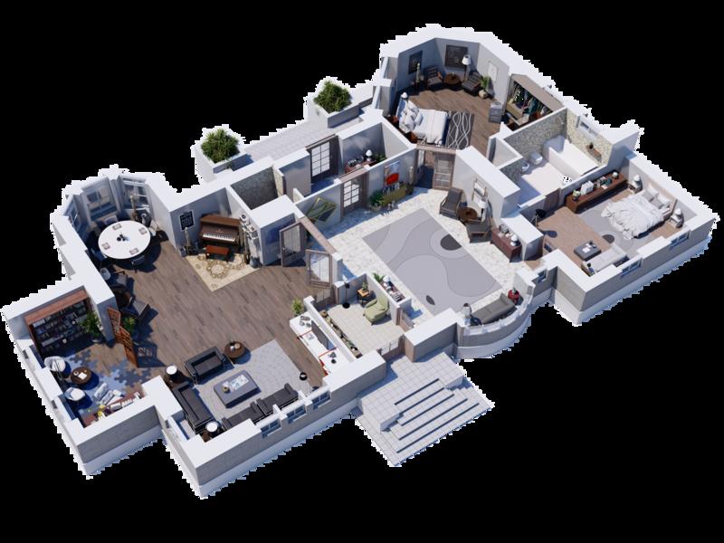 3d Floor Plan walkthrough renders modeling lumion design autocad 3dsmax