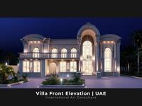 Villa Proposal, Front Elevation   UAE