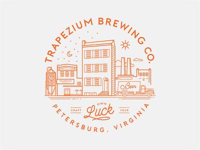 Trapezium Brewing Co. Village Logo