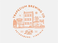 Trapezium Brewing Co. Village Logo