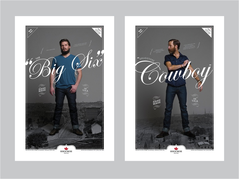 Shockoe Denim Posters poster mens apparel fashion design poster design typography graphicdesign