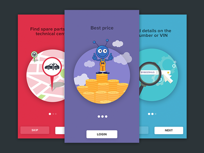 Tutorial illustration food ux ui welcome intro tutorial iphone ios