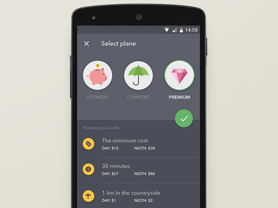 Taxi Plans Freebie .psd app psd freebie listview plans taxi material design android ux ui