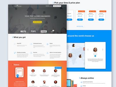Tutors tutors ux ui teacher flat web design website landing page