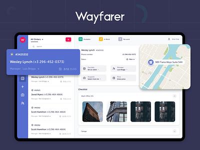 Wayfarer - Admin Panel web design new menu side bar order dashboard admin web ui ux