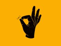 Is it really ok? hand yellow digital illustration ipad procreate illustration ok