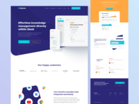 Kipwise homepage home page web knowledge base knowledgebase ui kipwise startup web design website