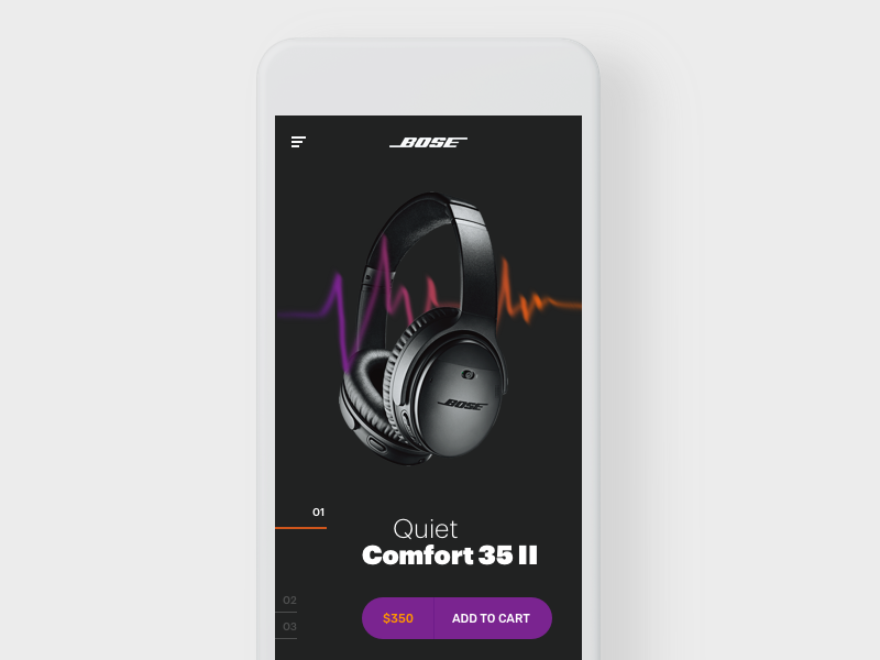 Bose Headphones Concept app product ui ux concept mobile headphones bose