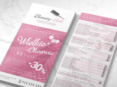 Beauty Look leaflet