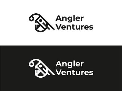Anglerfish Logo vector illustrator minimalism logo angler anglerfish